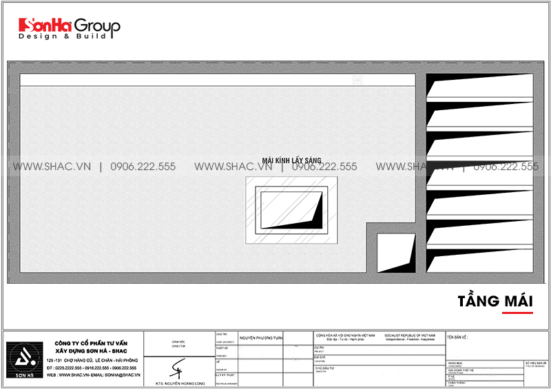 Nhà phố hiện đại 4 tầng mặt tiền 4m có gara ôtô tại Hải Phòng – SH NOD 0207 8
