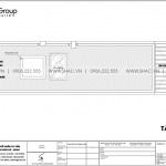 8 Mặt bằng tầng mái nhà ống kết hợp kinh doanh kiểu tân cổ điển tại hải phòng sh nop 0197
