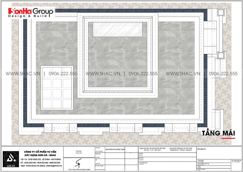 Thiết kế nhà ống bán biệt thự kiểu cổ điển Pháp 5 tầng 7,5m x 11,78m tại Hải Phòng – SH NOP 0198 9