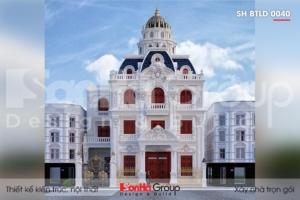 BÌA thiết kế biệt thự lâu đài pháp 3 tầng 1 tum tại hà nội sh btld 0040