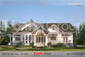 BÌA thiết kế biệt thự mái thái 1 tầng kiểu tân cổ điển tại vĩnh long sh btp 0145