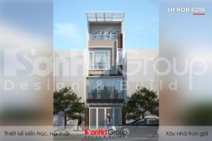 BÌA thiết kế nhà ống 4 tầng mặt tiền 4,4m tại quảng ninh sh nod 0208