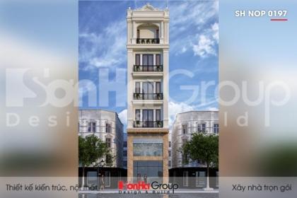 BÌA thiết kế nhà ống tân cổ điển 6 tầng mặt tiền 5,1m tại hải phòng sh nop 0197
