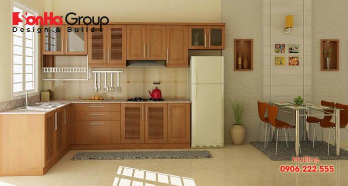 Bố trí tủ lạnh trong bếp có nhiều vị trí để đảm bảo phong thủy