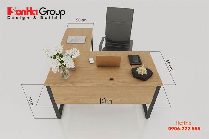 Chọn bàn có kích thước chuẩn kỹ thuật và phong thủy giúp tăng hiệu suất