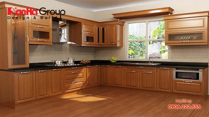 Cửa bếp cũng vô cùng quan trọng đối với không gian phòng bếp
