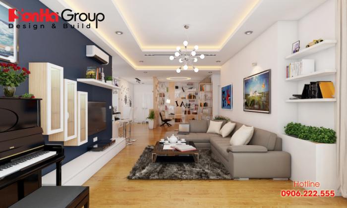 Trang trí phòng khách 20m2 với xu hướng nội thất hiện đại vạn người mê 1