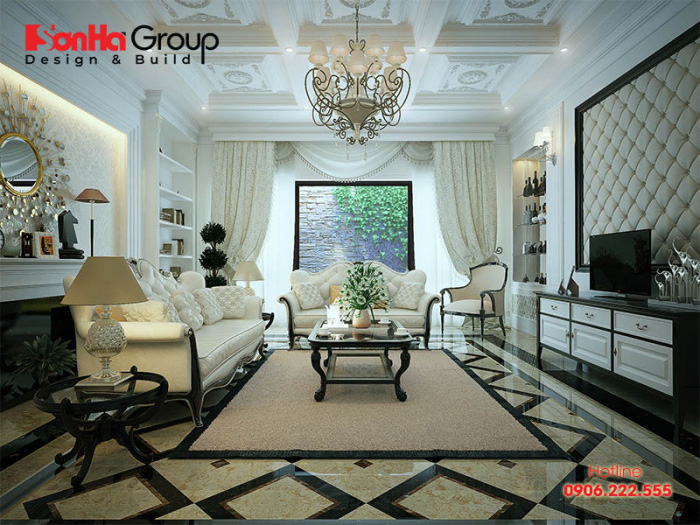 Khám phá những mẫu phòng khách đẹp nhất theo phong cách tân cổ điển đẹp, hài hòa với kiến trúc của ngôi nhà