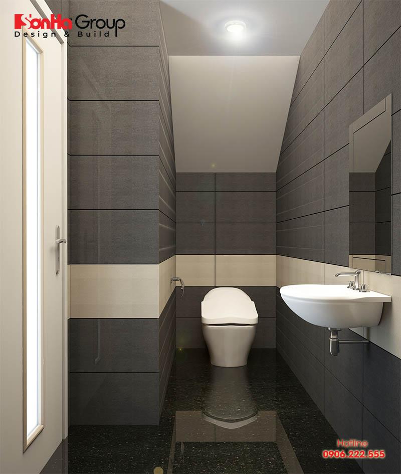 Kích thước nhà vệ sinh tối thiểu dao động khoảng 2,5m2 đến 3m2