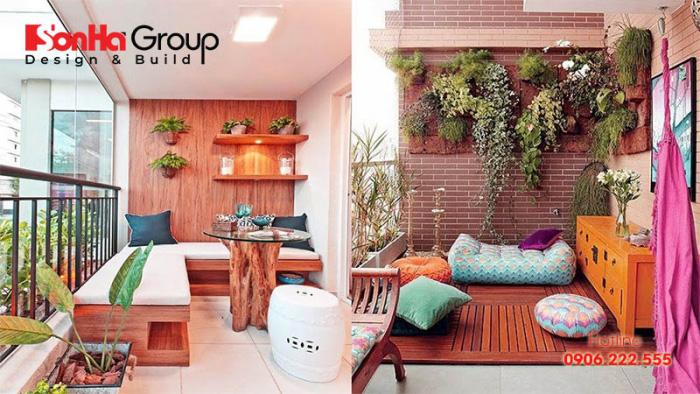 Mẫu thiết kế ban công đẹp và phong thủy cho căn hộ chung cư