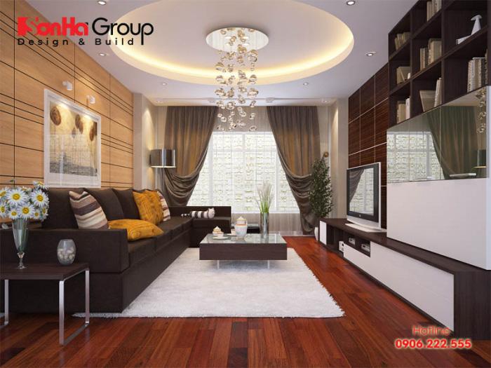 Trang trí phòng khách 20m2 với xu hướng nội thất hiện đại vạn người mê 2