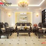 Thêm một ý tưởng thiết kế nội thất và cách bố trí bàn ghế hợp lý nổi bật không gian phòng khách nhà phố tân cổ điển