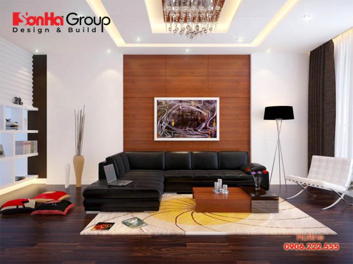 Trang trí phòng khách 20m2 với xu hướng nội thất hiện đại vạn người mê 3