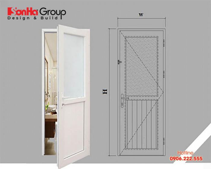 Tiêu chuẩn kích thước cửa nhà vệ sinh vừa thẩm mỹ vừa phong thủy