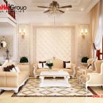 Ý tưởng trang trí phòng khách đẹp sang trọng kiểu tân cổ điển năm 2020