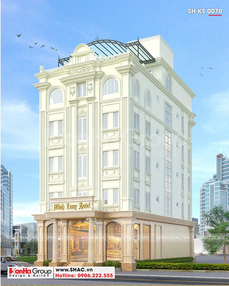 Khách sạn 3 sao kiến trúc tân cổ điển 5 tầng + 1 tum sở hữu dáng vẻ uy quyền, hoành tráng tôn vinh quyền lực sở hữu của chủ nhân tại Hà Nội