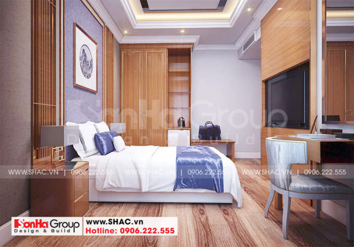 Phòng ngủ của khách sạn 3 sao đều được trang bị đầy đủ các thiết bị sinh hoạt hiện đại và tiện dụng