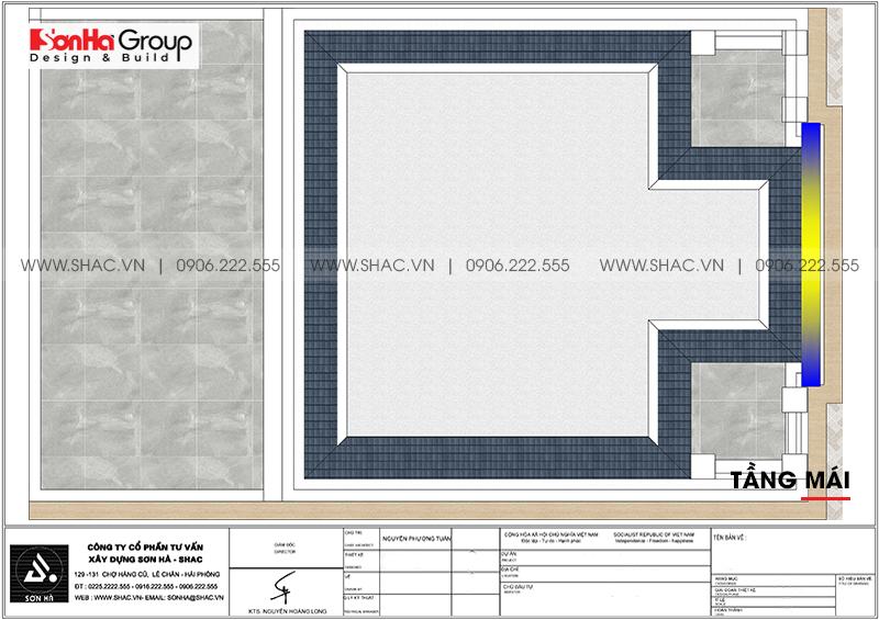 Biệt thự 3 tầng phong cách tân cổ điển mặt tiền 9m3 tại Hải Phòng - SH BTP 0146 10