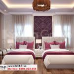11 Thiết kế nội thất phòng ngủ 4 và 6 khách sạn tân cổ điển tại hà nội sh ks 0070