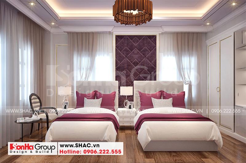 Mẫu thiết kế khách sạn tân cổ điển 5 tầng 10m x 22,5m tiêu chuẩn 3 sao tại Hà Nội – SH KS 0070 10