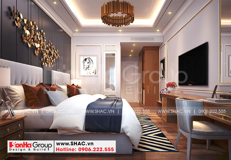Mẫu thiết kế khách sạn tân cổ điển 5 tầng 10m x 22,5m tiêu chuẩn 3 sao tại Hà Nội – SH KS 0070 11