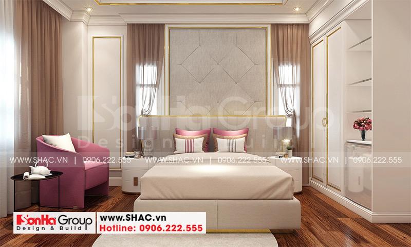 Mẫu thiết kế khách sạn tân cổ điển 5 tầng 10m x 22,5m tiêu chuẩn 3 sao tại Hà Nội – SH KS 0070 12