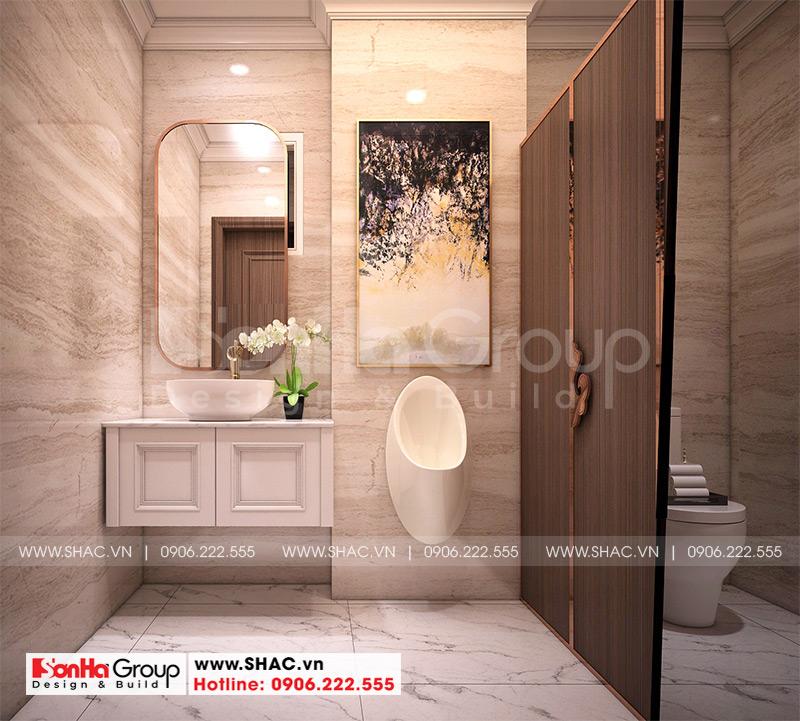 Mẫu thiết kế khách sạn tân cổ điển 5 tầng 10m x 22,5m tiêu chuẩn 3 sao tại Hà Nội – SH KS 0070 13