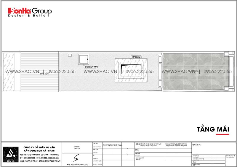Mẫu nhà ống tân cổ điển 5 tầng có gara ôtô trong nhà tại Hà Nội - SH NOP 0199 9