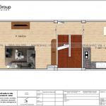 3 Bản vẽ tầng 2 nhà ống hiện đại mặt tiền 4m tại hà nội sh nod 0209