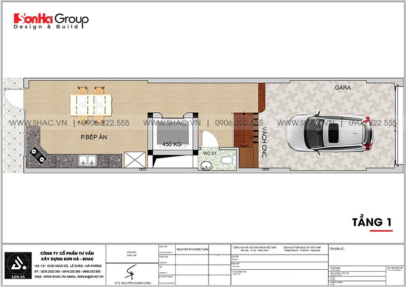 Thiết kế nhà phố hiện đại 5 tầng mặt tiền 4m1 có gara ôtô tại Hải Dương – SH NOD 0210 3