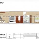 4 Bản vẽ tầng 2 nhà ống 5 phòng ngủ kiểu hiện đại tại hải dương sh nod 0210