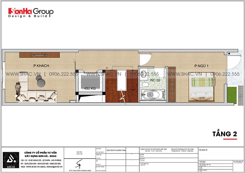 Thiết kế nhà phố hiện đại 5 tầng mặt tiền 4m1 có gara ôtô tại Hải Dương – SH NOD 0210 4