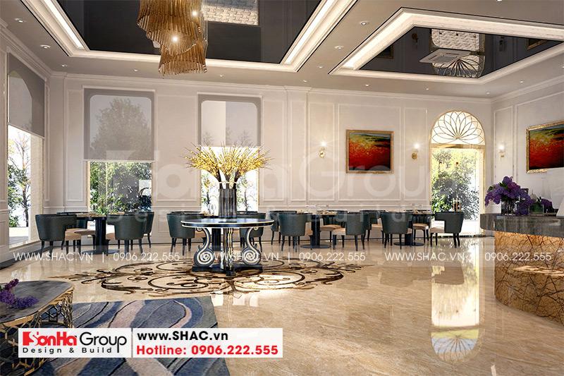 Mẫu thiết kế khách sạn tân cổ điển 5 tầng 10m x 22,5m tiêu chuẩn 3 sao tại Hà Nội – SH KS 0070 4