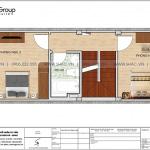 4 Mặt bằng tầng 3 nhà ống hiện đại 4 phòng ngủ tại hà nội sh nod 0209