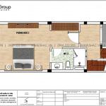 4 Mặt bằng tầng 3 nhà ống tân cổ điển 3 phòng ngủ tại hải phòng sh nop 0200