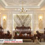 4 Trang trí nội thất phòng khách kiểu tân cổ điển tại hà nội sh nop 0199