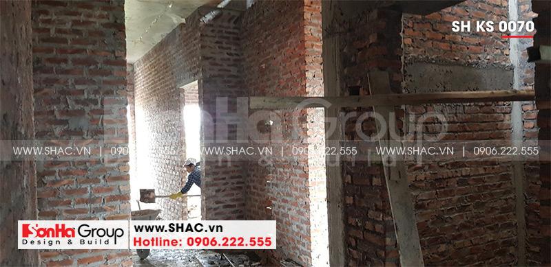 Mẫu thiết kế khách sạn tân cổ điển 5 tầng 10m x 22,5m tiêu chuẩn 3 sao tại Hà Nội – SH KS 0070 24