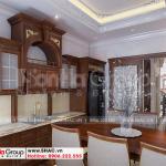 5 Cách bố trí nội thất phòng bếp nhà ống 5 tầng tân cổ điển tại hà nội sh nop 0199