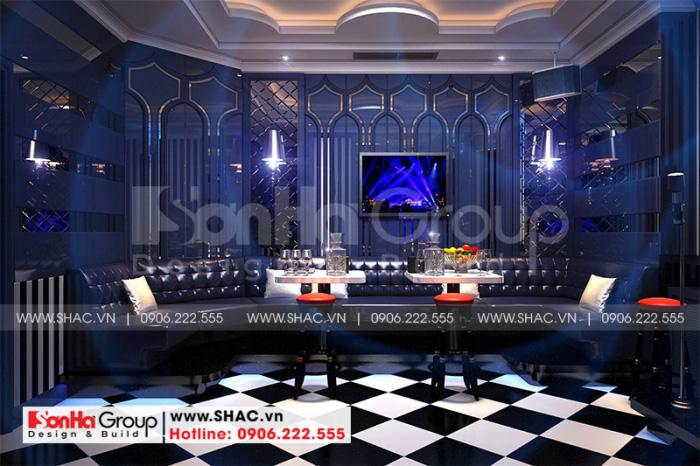 Thiết kế nội thất phòng karaoke hiện đại mang đến cho du khách những giờ phút thư giãn thoải mái nhất