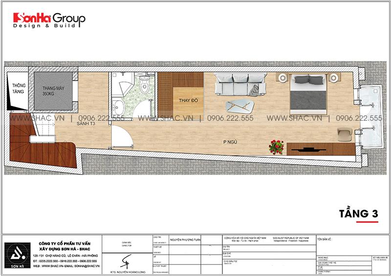 Mẫu thiết kế nhà ống tân cổ điển 5 tầng kết hợp kinh doanh tại Hải Phòng - SH NOP 0201 5