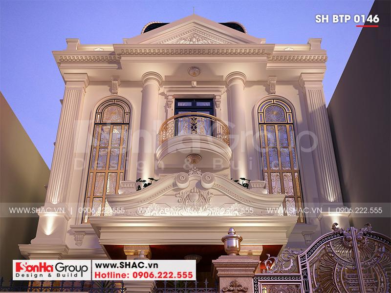 Biệt thự 3 tầng phong cách tân cổ điển mặt tiền 9m3 tại Hải Phòng - SH BTP 0146 5