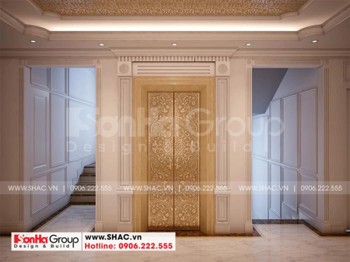 Sảnh thang khách sạn với thiết kế tạo sự thuận tiện trong di chuyển cho khách hàng