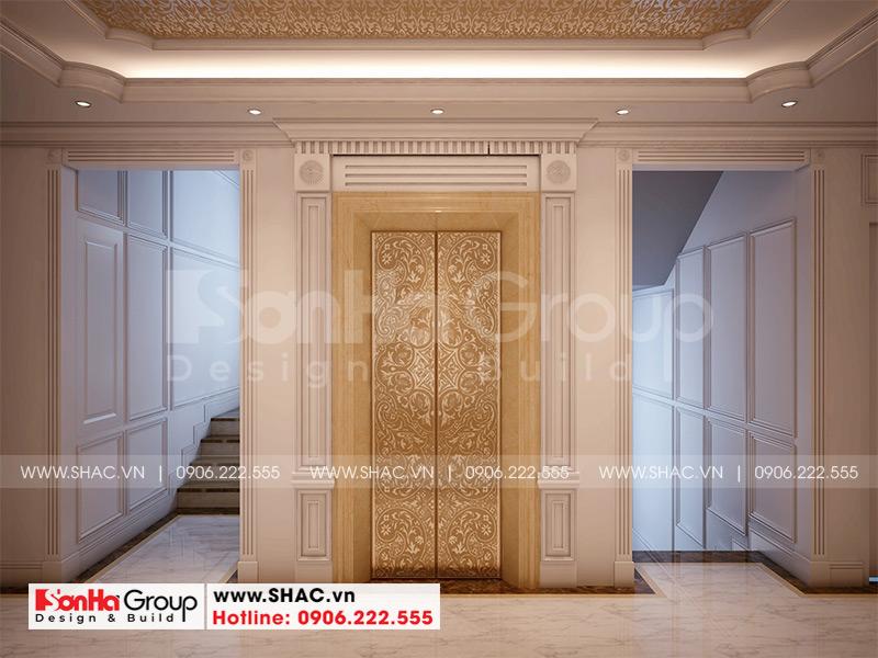 Mẫu thiết kế khách sạn tân cổ điển 5 tầng 10m x 22,5m tiêu chuẩn 3 sao tại Hà Nội – SH KS 0070 5