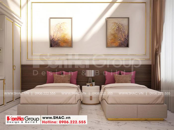 Mẫu phòng ngủ nhân viên khách sạn tân cổ điển tiêu chuẩn 3 sao tại Hà Nội