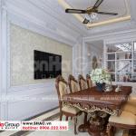 7 Thiết kế nội thất phòng ăn nhà ống đẹp kiểu tân cổ điển tại hà nội sh nop 0199