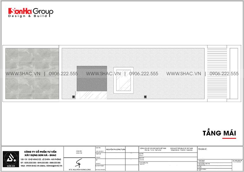Thiết kế nhà phố hiện đại 5 tầng mặt tiền 4m1 có gara ôtô tại Hải Dương – SH NOD 0210 8