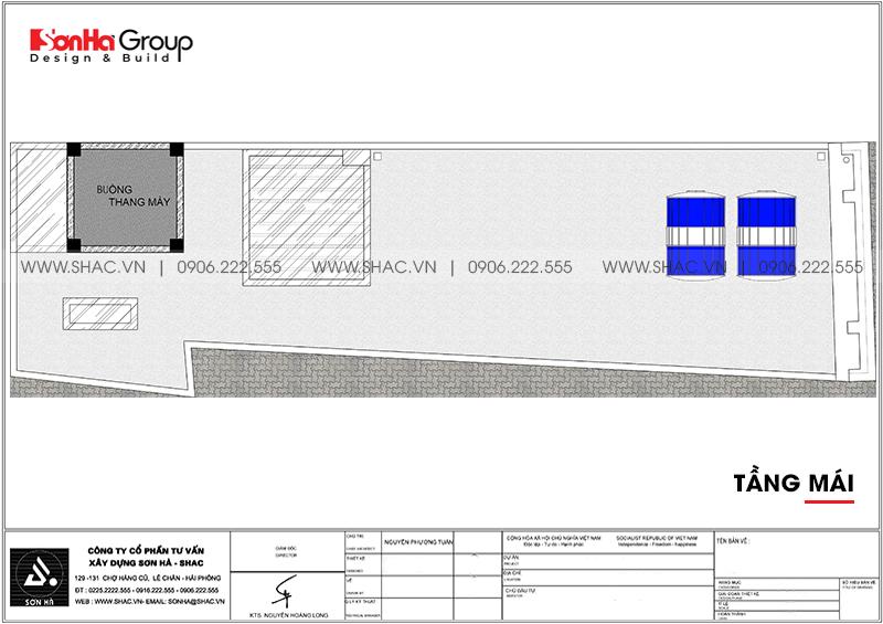 Mẫu thiết kế nhà ống tân cổ điển 5 tầng kết hợp kinh doanh tại Hải Phòng - SH NOP 0201 8