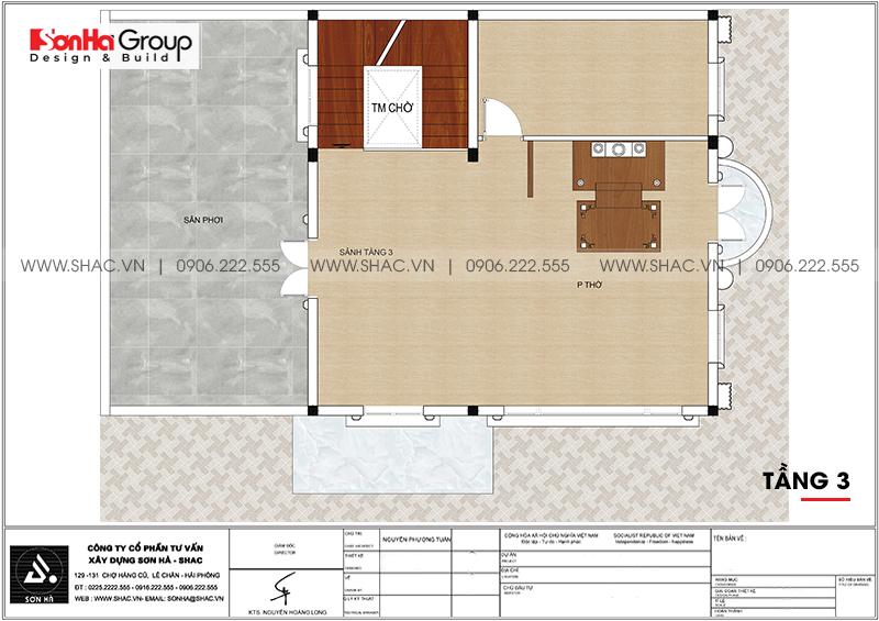 Biệt thự 3 tầng phong cách tân cổ điển mặt tiền 9m3 tại Hải Phòng - SH BTP 0146 9