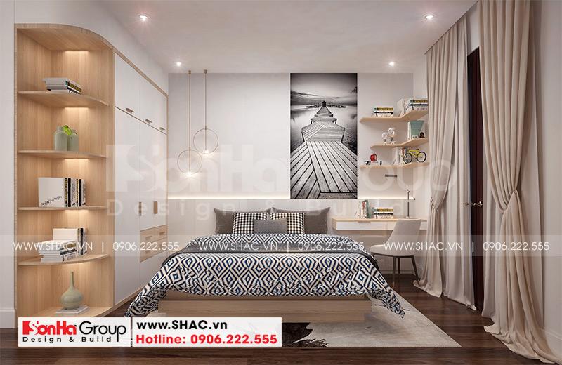 Mẫu nhà ống tân cổ điển 5 tầng có gara ôtô trong nhà tại Hà Nội - SH NOP 0199 16