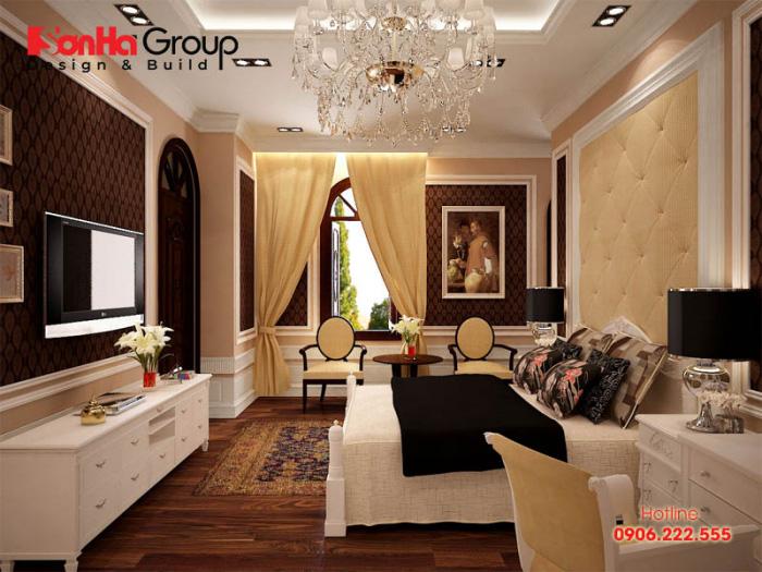 Âm hưởng châu âu được thiết kế chủ đạo tạo nên một không gian sang trọng ấm cúng cho gia chủ